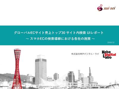 Vol3.海外版 ECトップ30 スマホサイトでの商品検索レポート「インターフェース編」